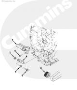 Кронштейн генератора Cummins ISLe пластина натяжитель XML6125CR, 3286653