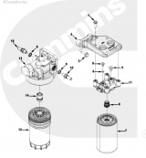 Кронштейн основания топливного фильтра Cummins ISLe 4988529